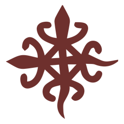 Símbolo africano trazo de cocodrilo siamés
