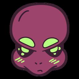 Sobrancelhas grandes da cabeça do alienígena