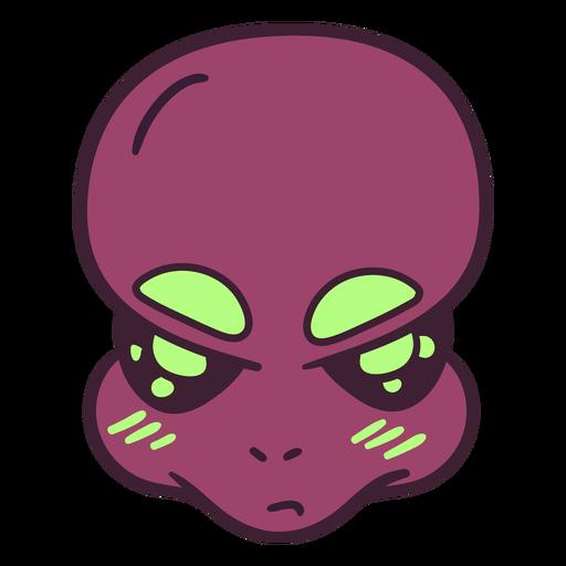 La cabeza grande de Alien cejas trazo colorido Transparent PNG