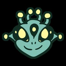 Cabeza de alienígena de 3 ojos