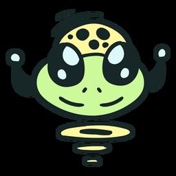 Alien's head jumping stroke