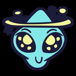 Alien's head ring satelite stroke colorido