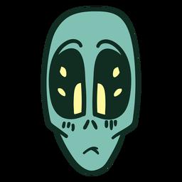 La cabeza de Alien triste golpe