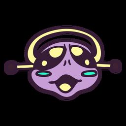 Curso violeta da cabeça do estrangeiro