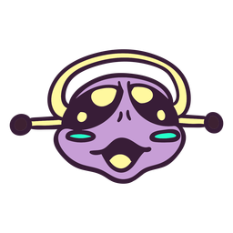 Golpe violeta de la cabeza de Alien