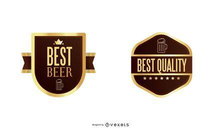 Formas de etiqueta de cerveza