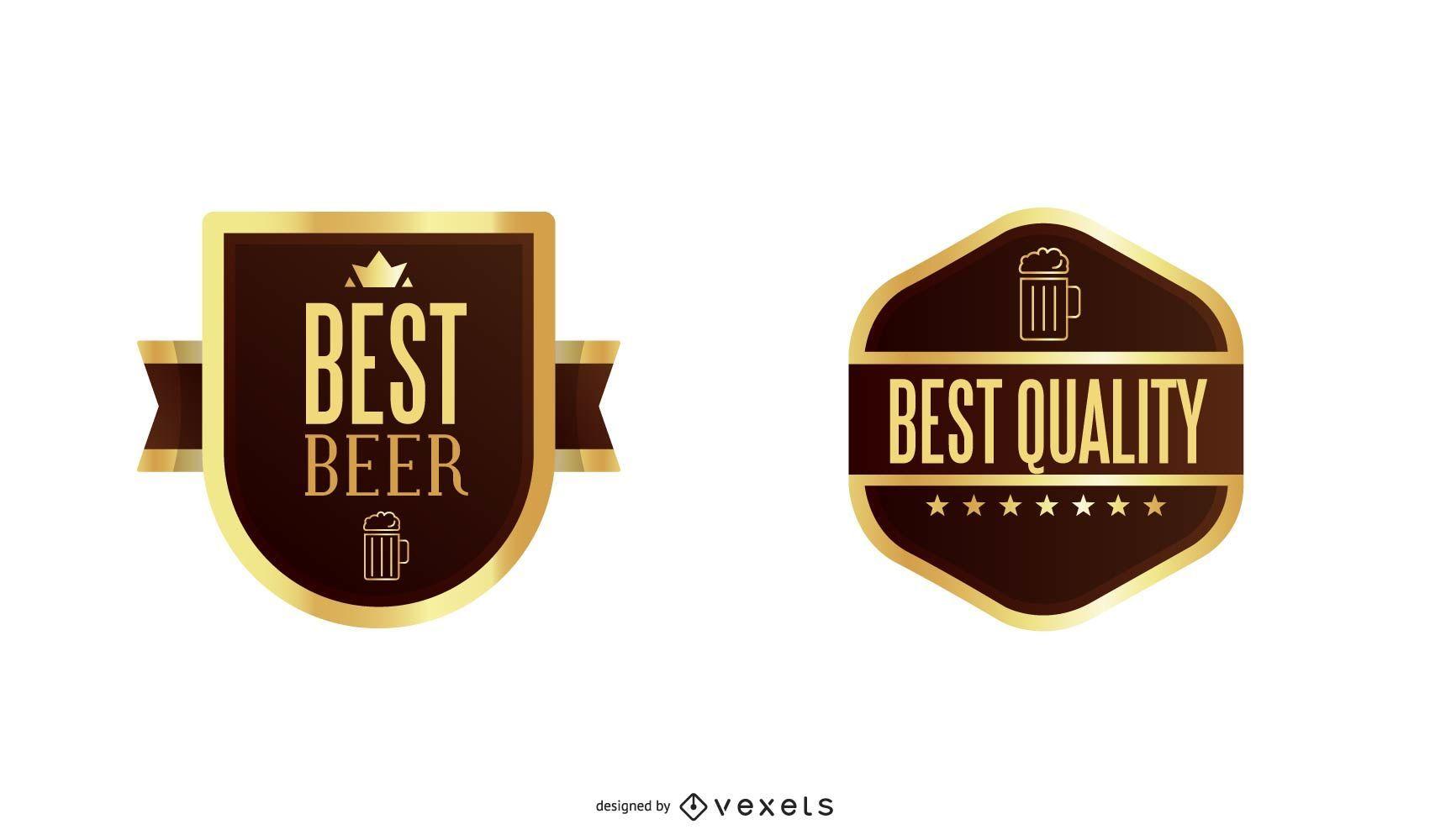 Formas de etiquetas de cerveza