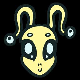 Curso de antena amarela da cabeça do estrangeiro