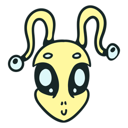 Golpe de antena amarilla de la cabeza de Alien