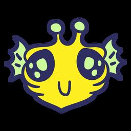 Cabeza de Alien pez amarillo