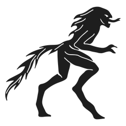 Alien lizard monster silhouette