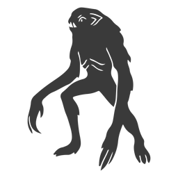 Alien monster long arms silhouette