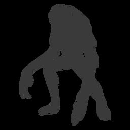 Silueta de brazos largos de monstruo alienígena