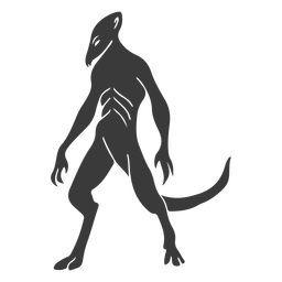 Alien monster tail silhouette