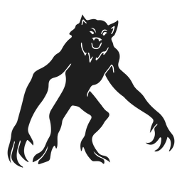 Alien monster werewolf silhouette