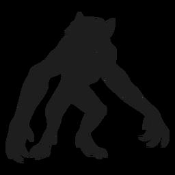Silueta de hombre lobo monstruo alienígena