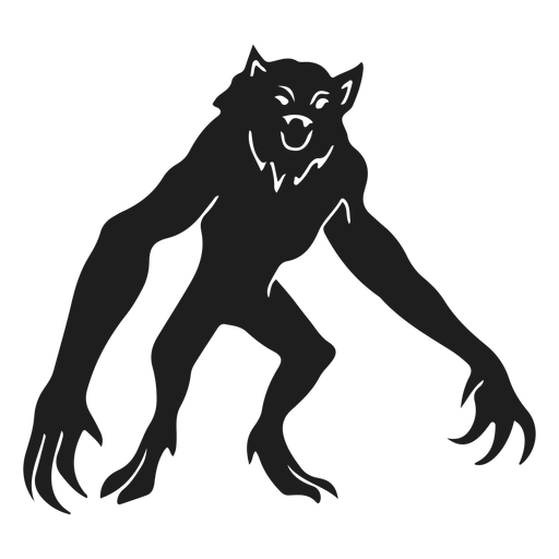 Alien monster werewolf silhouette Transparent PNG