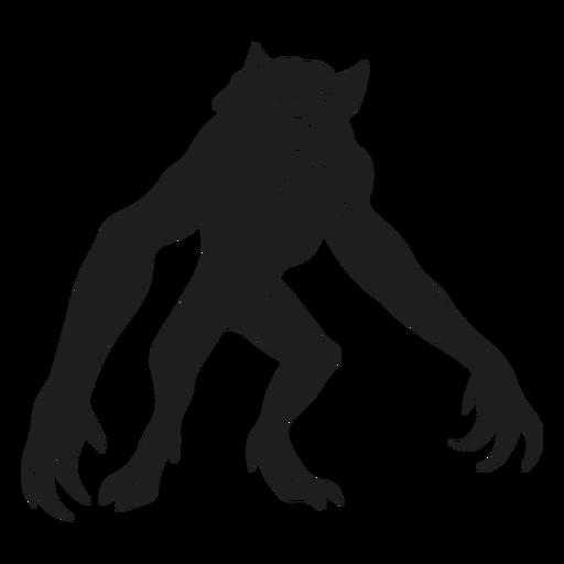Silueta de hombre lobo monstruo alienígena Transparent PNG