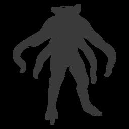 Silhueta de monstro alienígena tentáculo