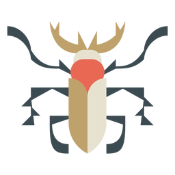 Beetle geometric colorful flat