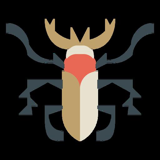 Beetle geometric colorful flat