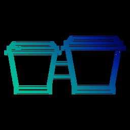 Carrera de gradiente de tambores bongo