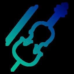 Trazo de gradiente de violonchelo