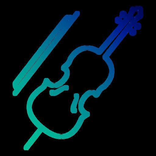 Cello gradient stroke