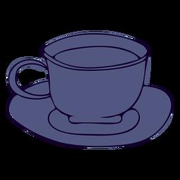 Ilustración de la taza de café