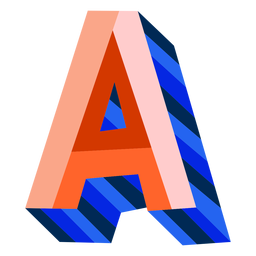 Colorful 3d letter a