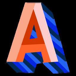 Colorido 3d letra a