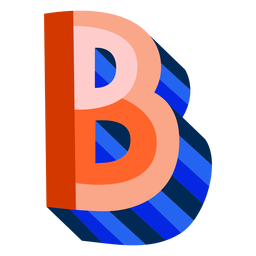 Colorful 3d letter b