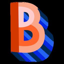 Colorido 3d letra b