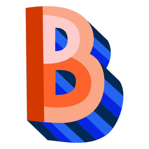 Colorful 3d letter b Transparent PNG