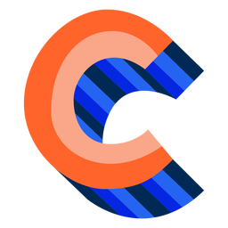 Colorido 3d letra c