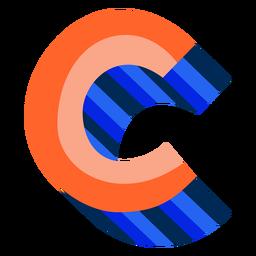 Letra 3d colorida c