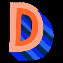 Colorido 3d letra d
