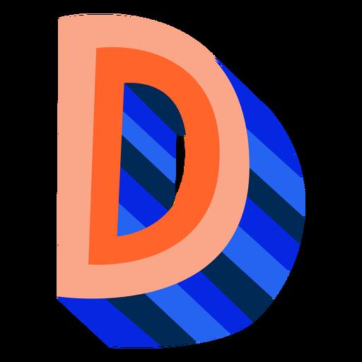 Colorful 3d letter d Transparent PNG