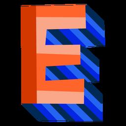 Colorful 3d letter e