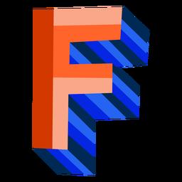 Letra 3d colorida f