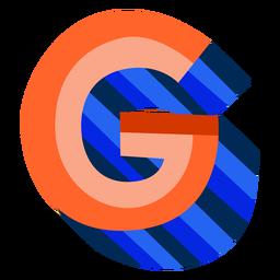 Colorido 3d letra g