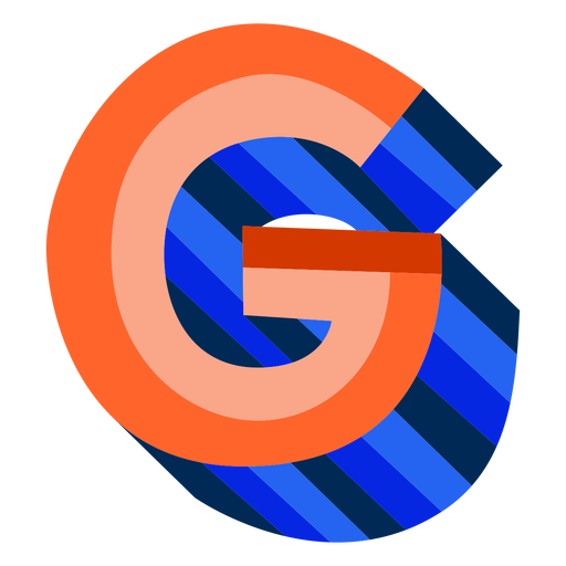 Letra 3d colorida g Transparent PNG