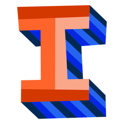 Colorful 3d letter i