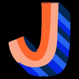 Colorido 3d letra j