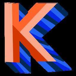Letra 3d colorida k