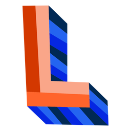 Colorful 3d letter l
