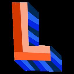 Colorido 3d letra l
