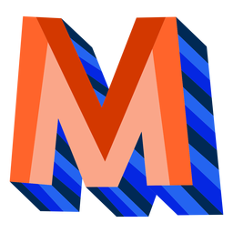 Colorful 3d letter m