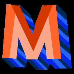 Colorido 3d letra m