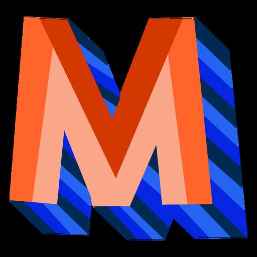 Colorido 3d letra m Transparent PNG